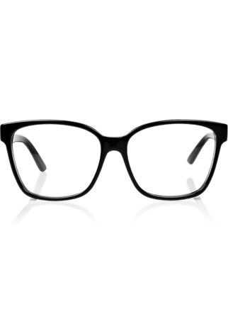 98fd24fbab653 Gucci acetate glasses Work the geek chic look with Gucci s classic black  frames.