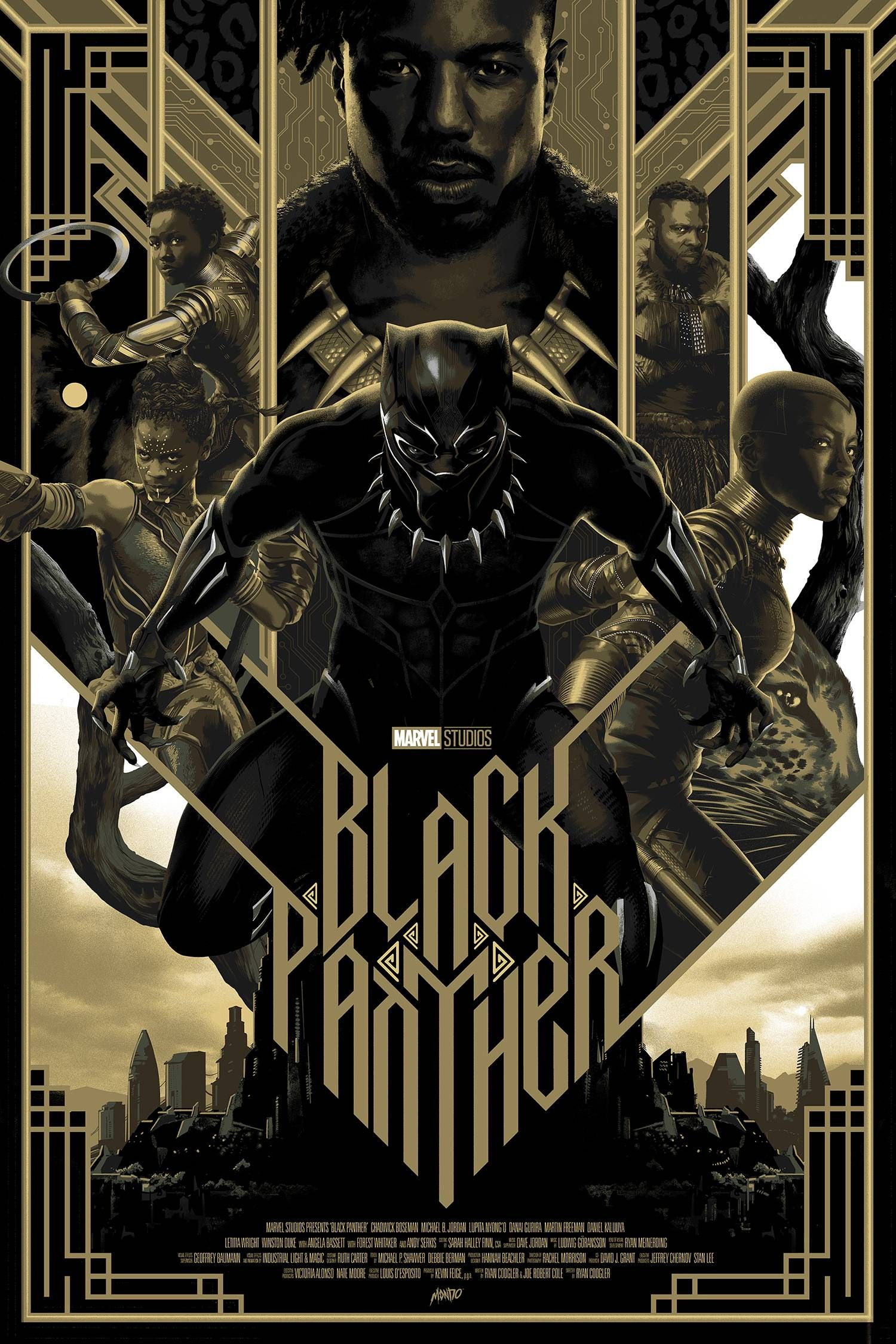 Black Panther Panthère noire, Films marvel, Affiches