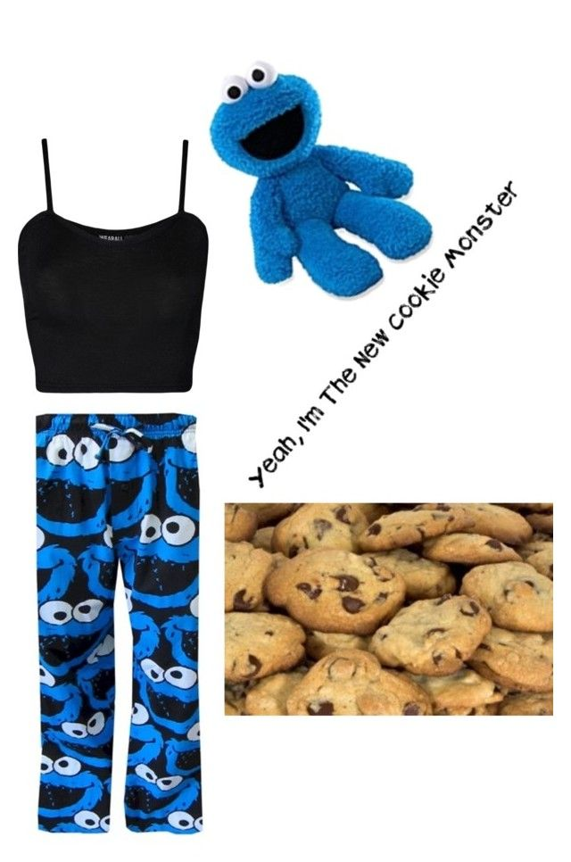"""cookie monster "" by paigejk on Polyvore featuring WearAll and Gund"