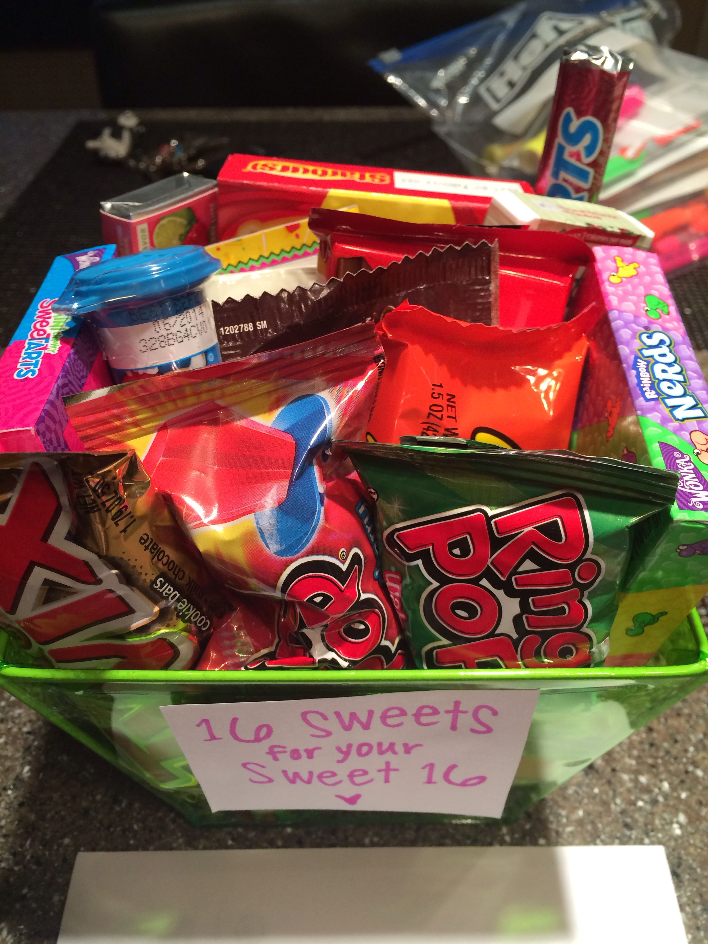 Sweet 16 Birthday Gift Basket Ideas