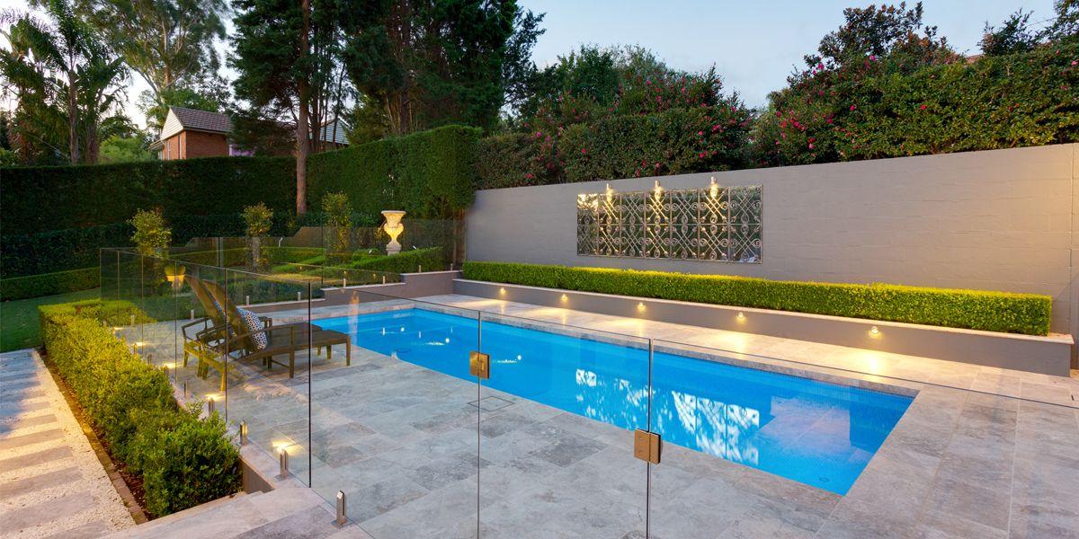 Premium Silver Travertinepavers 06 Fence Around Pool Pool Landscape Design Pool Fence