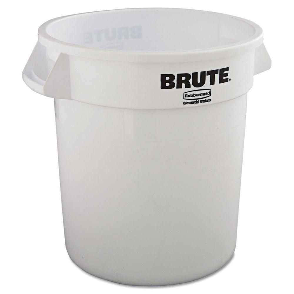 Rubbermaid Commercial 10 Gallon White Plastic Round Brute Container Rubbermaid Trash Can Rubbermaid Commercial Products