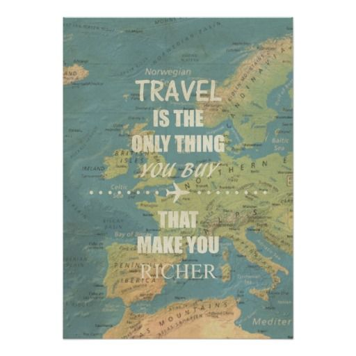 An inspiring travel quotes poster | Zazzle.com