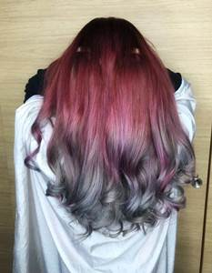 اجمل صور بني غزالي مع اشقر رمادي طريقة الصبغ منزليا Popular Hair Color Grey Hair Color Pink Ombre Hair
