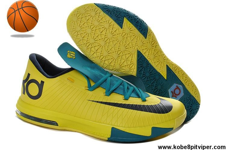 reputable site bf8af bf693 Cheap Discount 599424-700 Womens NIKE KD VI Seat Pleasant Yellow Teal-Navy  Fashion