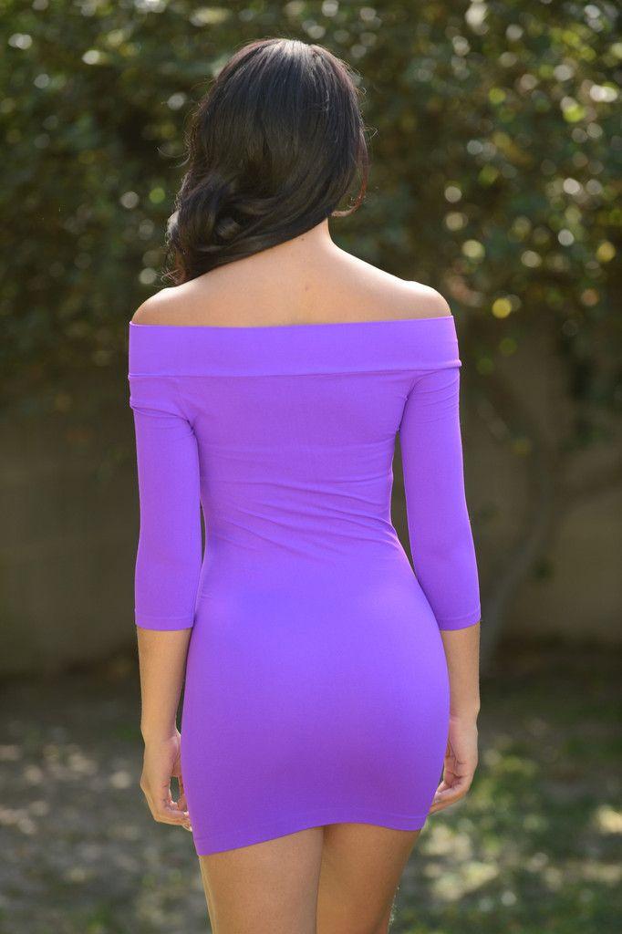 All Curves Mini Dress - Purple   Fashion Nova