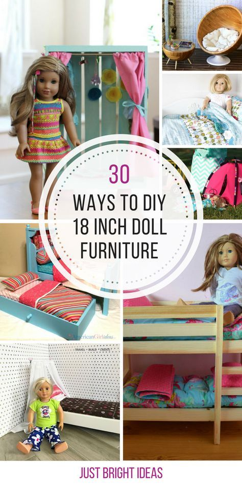 30 DIY American Girl Furniture Projects You Need to See #dollfurniture