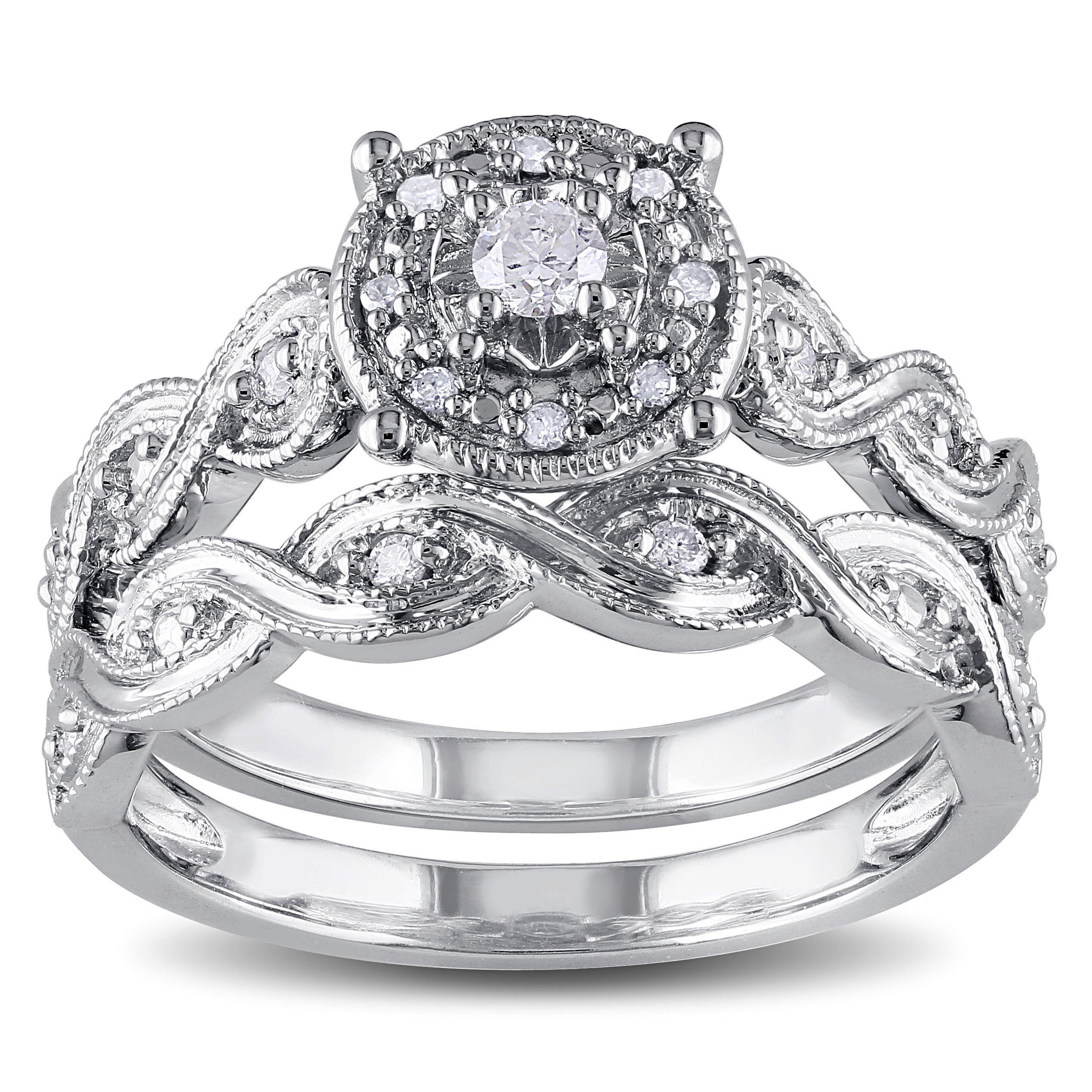 Miadora Sterling Silver 1/5ct TDW Diamond Infinity