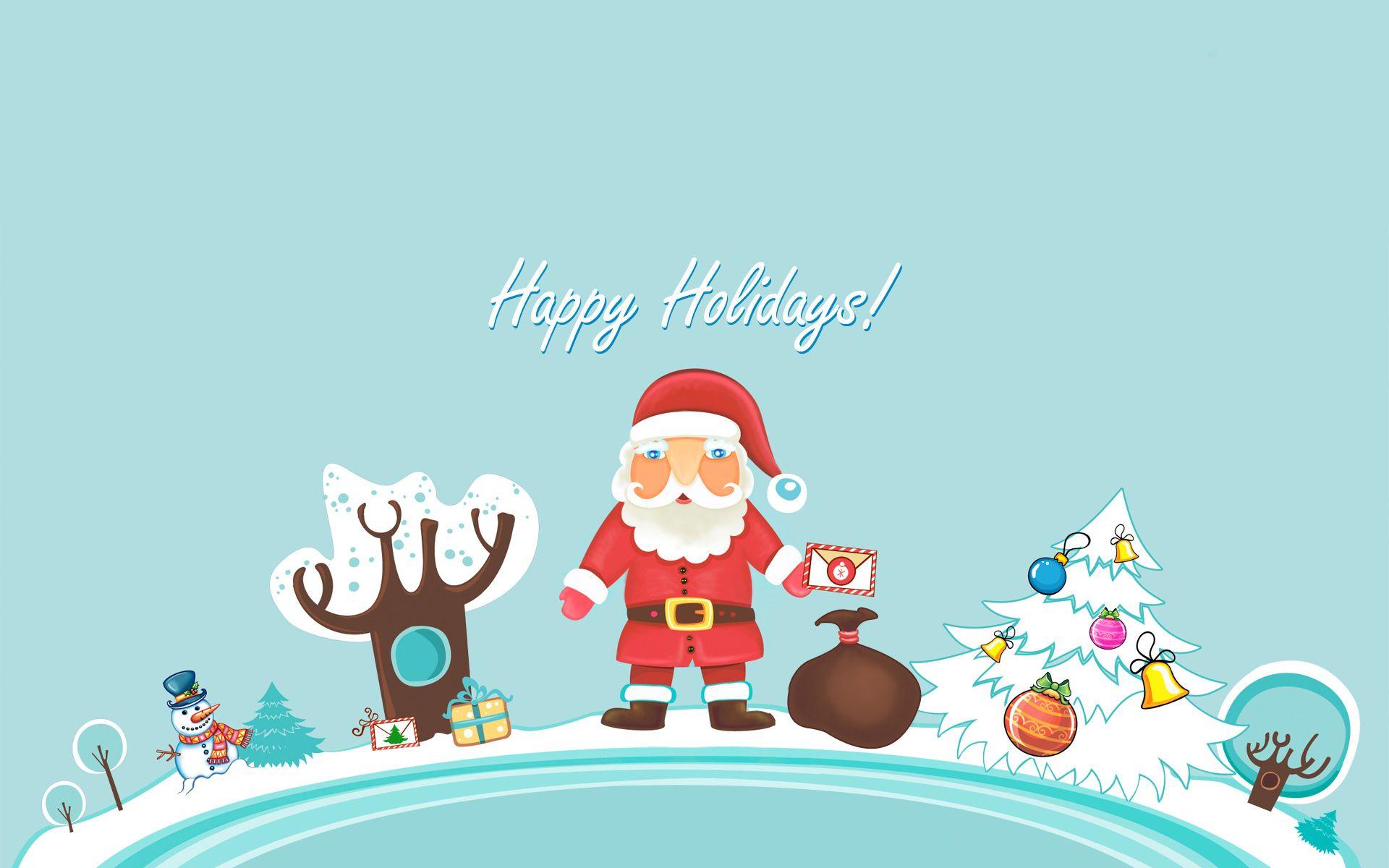 Santa And The Gang Free Holiday Desktop Wallpaper You Ll Never Want To Take Down Christmas Desktop Wallpaper Christmas Wallpaper Hd Holiday Wallpaper