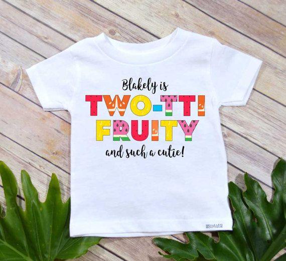 Second Birthday Twotti Fruity Theme Girl Shirt Personalized 2nd Set Fruit Party Tutti Frutti