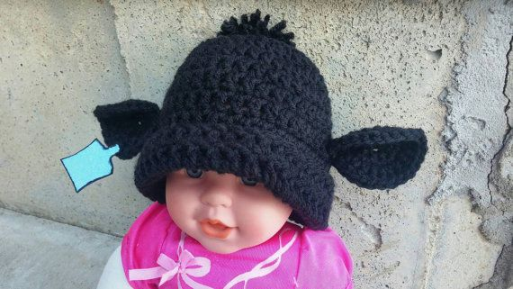 Check out this item in my Etsy shop https://www.etsy.com/listing/484709231/custom-infantbabytoddler-cowcalf-beanie