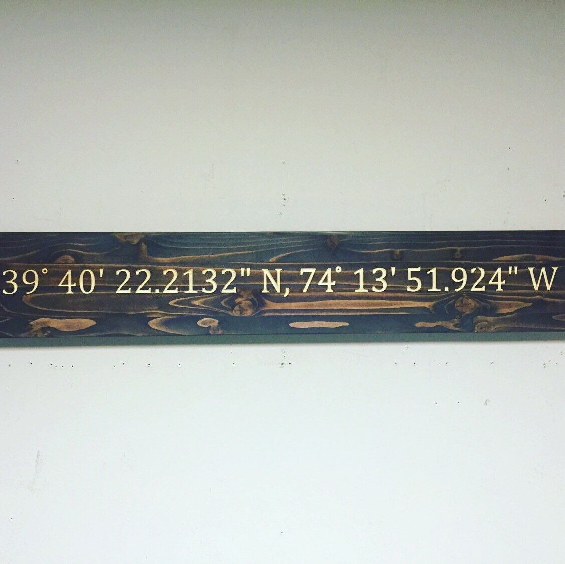 Coordinate sign custom carved direction sign engraved wood wall