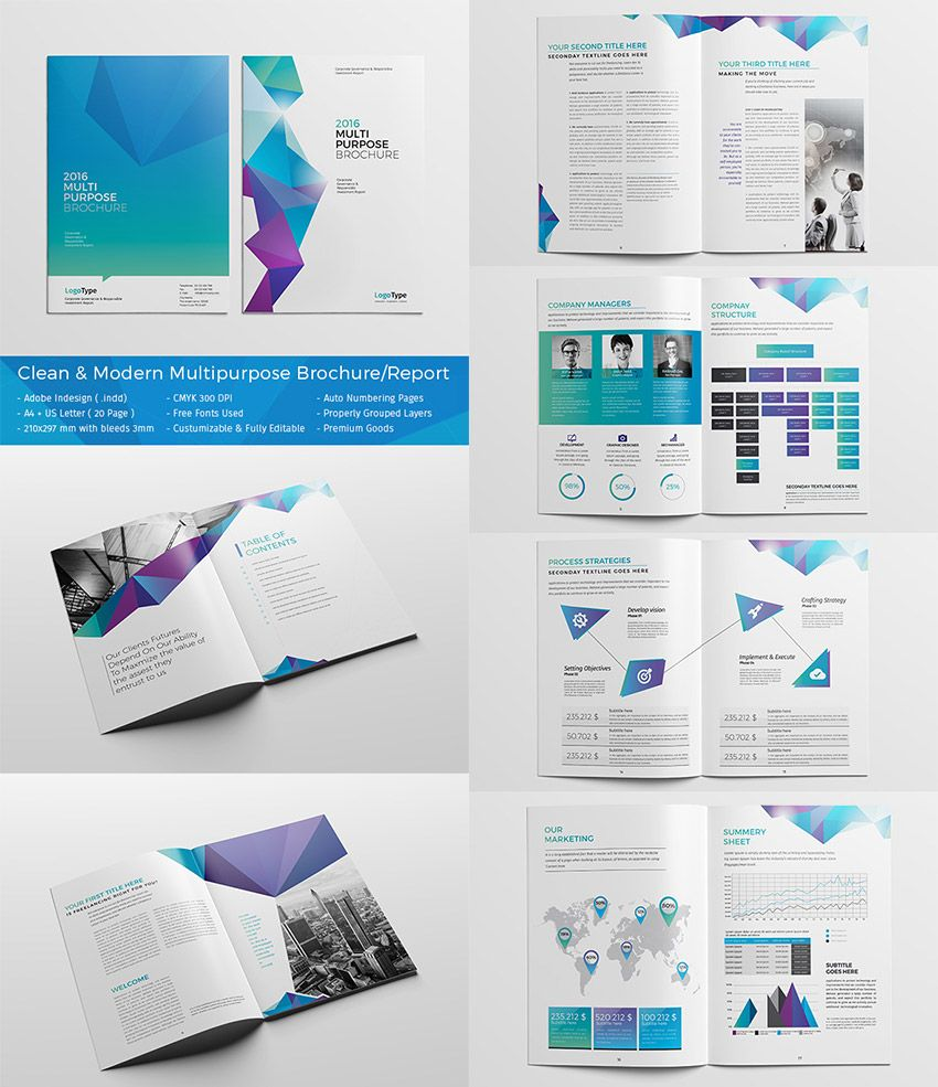 Best InDesign Brochure Templates Creative Business Marketing - Indesign template brochure
