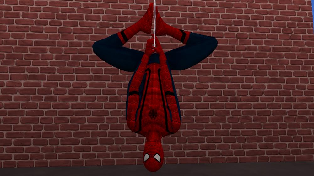 Unisex SpiderMan Civil War Costume Spiderman, Sims 4