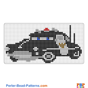 Sheriff from Cars perler bead pattern. Download a great