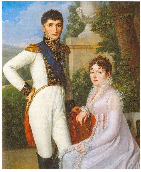 Jérôme-Napoléon Bonaparte, King of Westphalia and Queen Catharina; by Sebastian Weygandt, c. 1810.