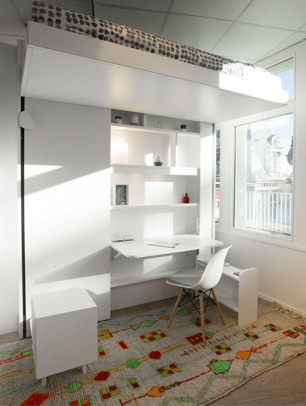 Lit Escamotable Une Place 90x200 Cm Egalement Adapte Pour