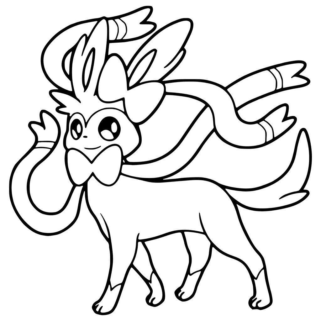 Pokemon Coloring Pages Sylveon Pokemon Coloring Pages Pokemon