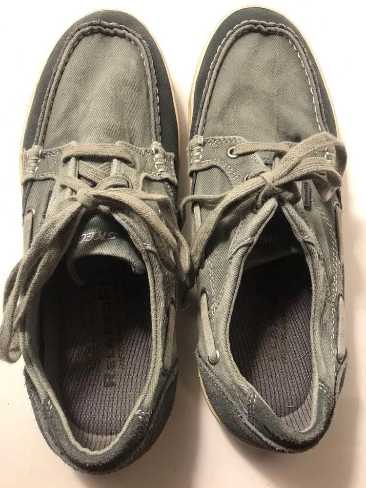 Skechers Relaxed Fit Diamondback Lace Up Boat Shoes Mens Sz 11