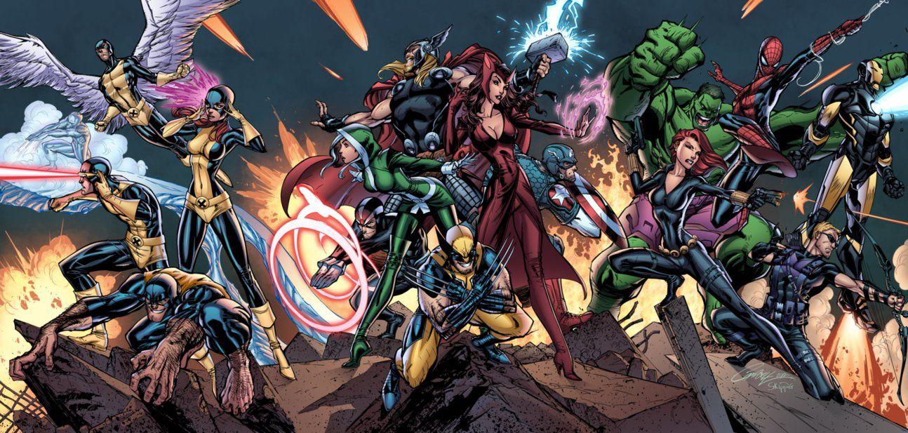 The Final Stand By J Skipper On Deviantart Uncanny Avengers Avengers Coloring Avengers Art