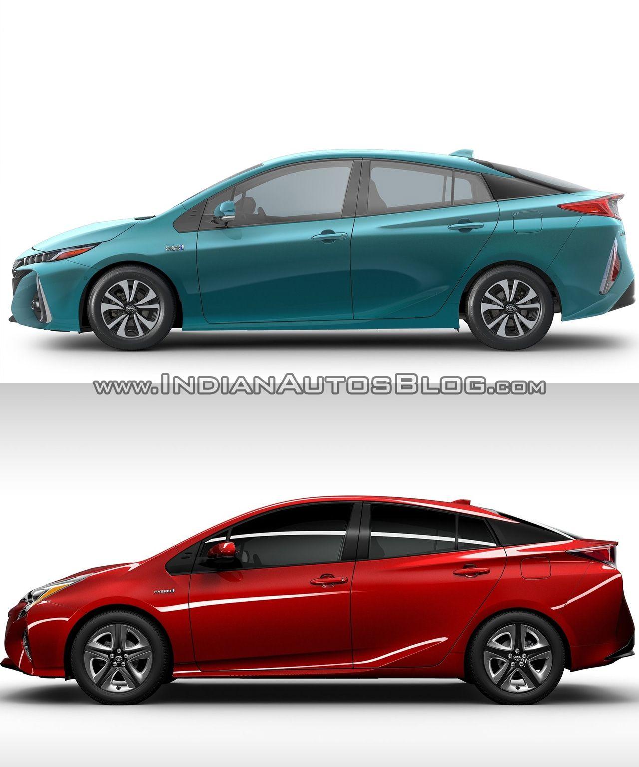 Toyota prius prime side vs 2016 toyota prius side