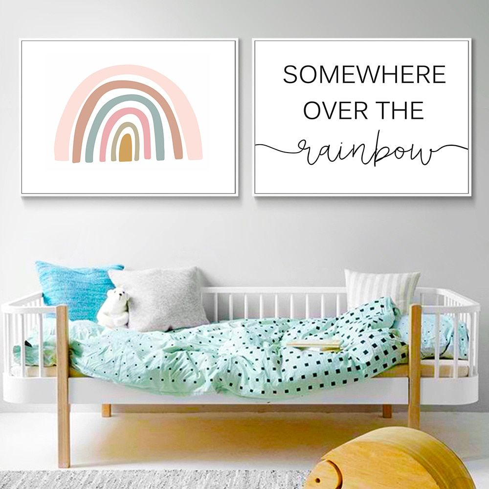 Cheap Painting Calligraphy Buy Directly From China Suppliers Pink Rainbow Wall Print Quot Nursery Art Posters Pink Girls Bedroom Decor Girls Room Wall Decor