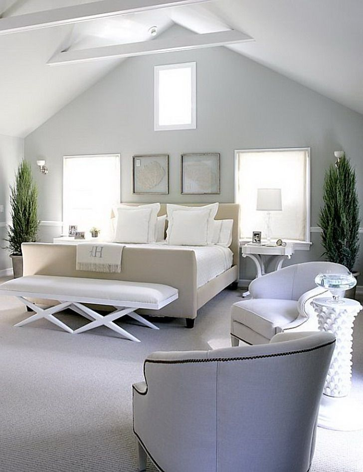White Modern Master Bedroom  the first point is very important to take note of their personal
