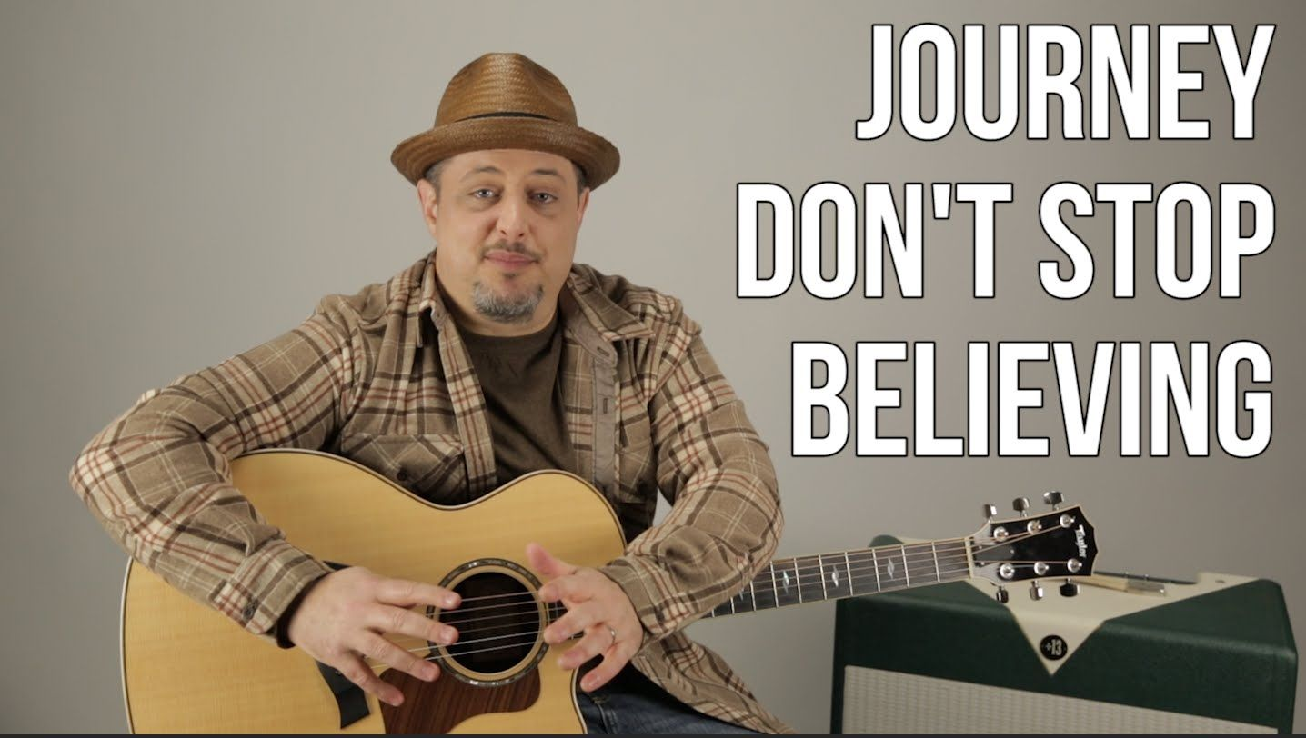 How To Play Dont Stop Believin By Journey On Guitar My Guitars