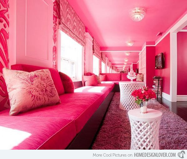15 Pretty in Pink Living Room Designs | Living rooms, Room and Walls