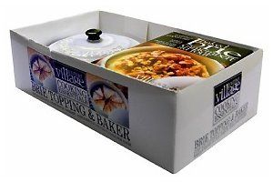 Amazon.com: Gourmet Du Village GIFT SET Brie & Camembert Cheese Baker with Handles, Bistro White: Kitchen & Dining
