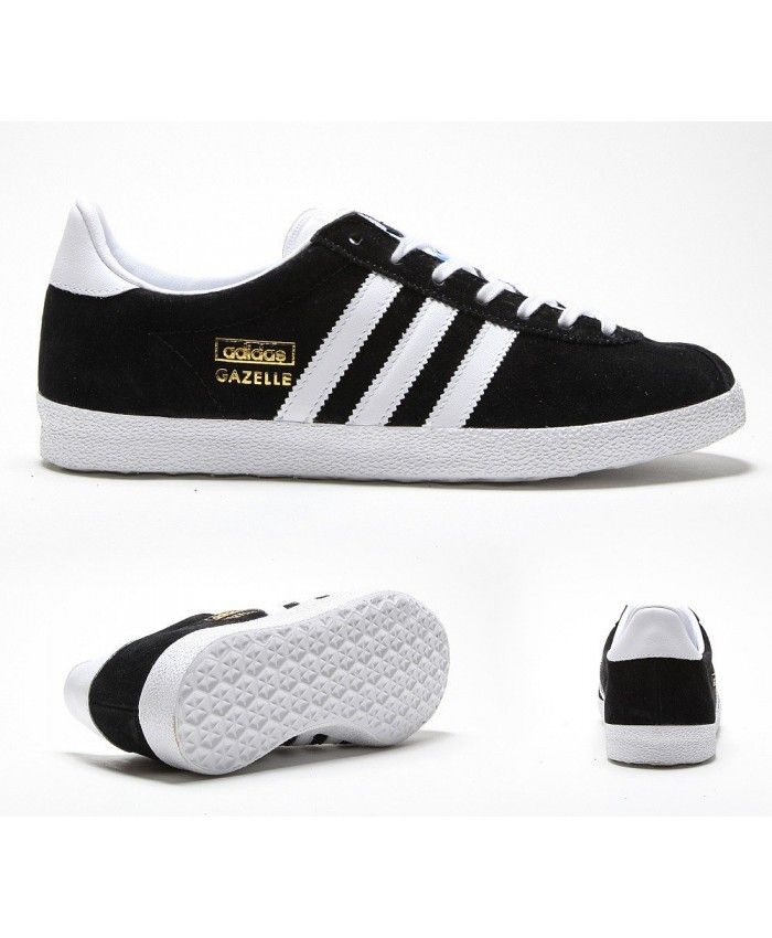 Womens Adidas Originals Gazelle OG Black and White Trainer Adi happy to do  their own good