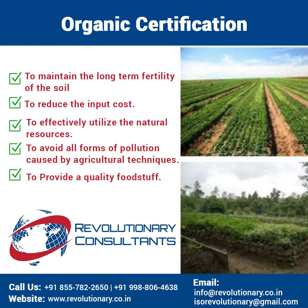 Organic certification is a certification process for producers of