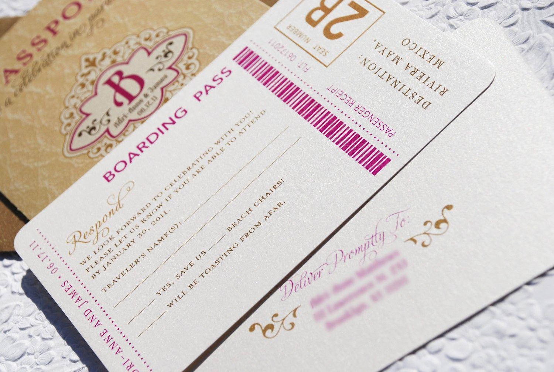 Vintage monogram passport destination wedding invitation mexico design fee vintage monogram passport wedding invitation mexico 5000 via etsy stopboris Gallery