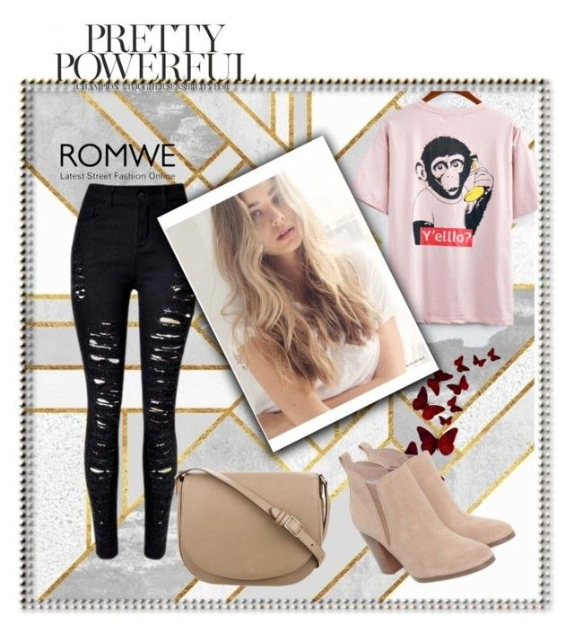 """Romwe"" by fatmafatma123 ❤ liked on Polyvore featuring Michael Kors and CÉLINE"