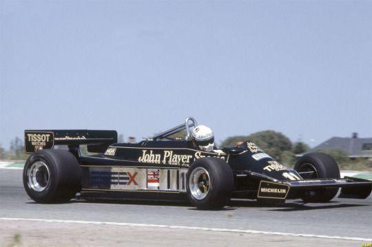 Elio de Angelis, Lotus-Ford 87, 1981 Spanish GP, Jarama