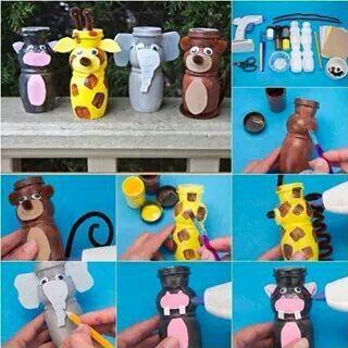 Actimel Flasche Zoo Laternen Basteln Laterne Pet Flasche Und