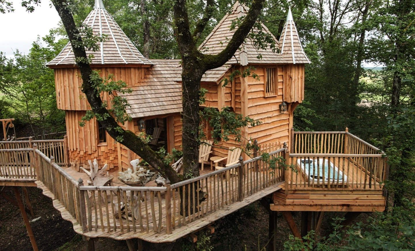 the 25 coolest treehouses on airbnb (france) | tree houses