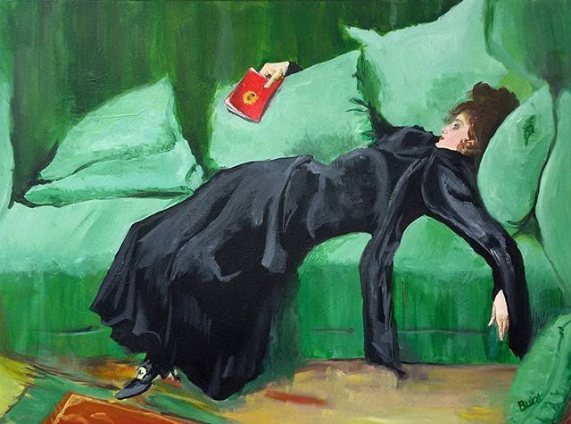 """My vision of a great work by Ramon Casas """"Joven Decadente"""