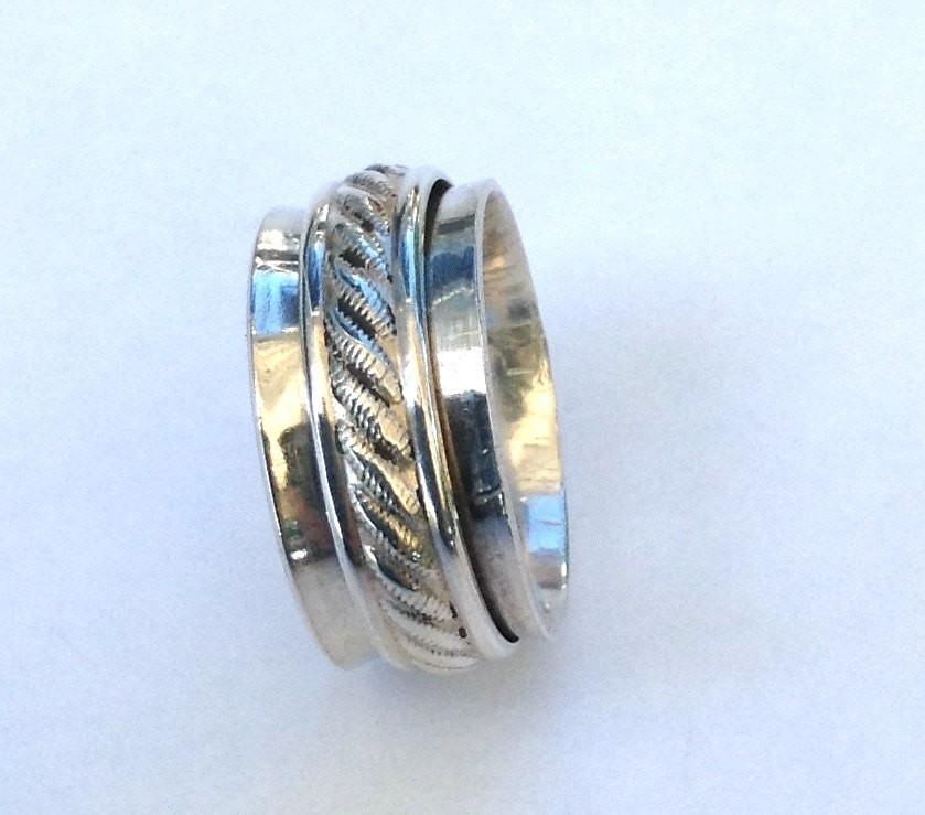 Silver Spinner Ring, Unique Wedding Rings Silver Spinner Ring, Unique Wedding Rings
