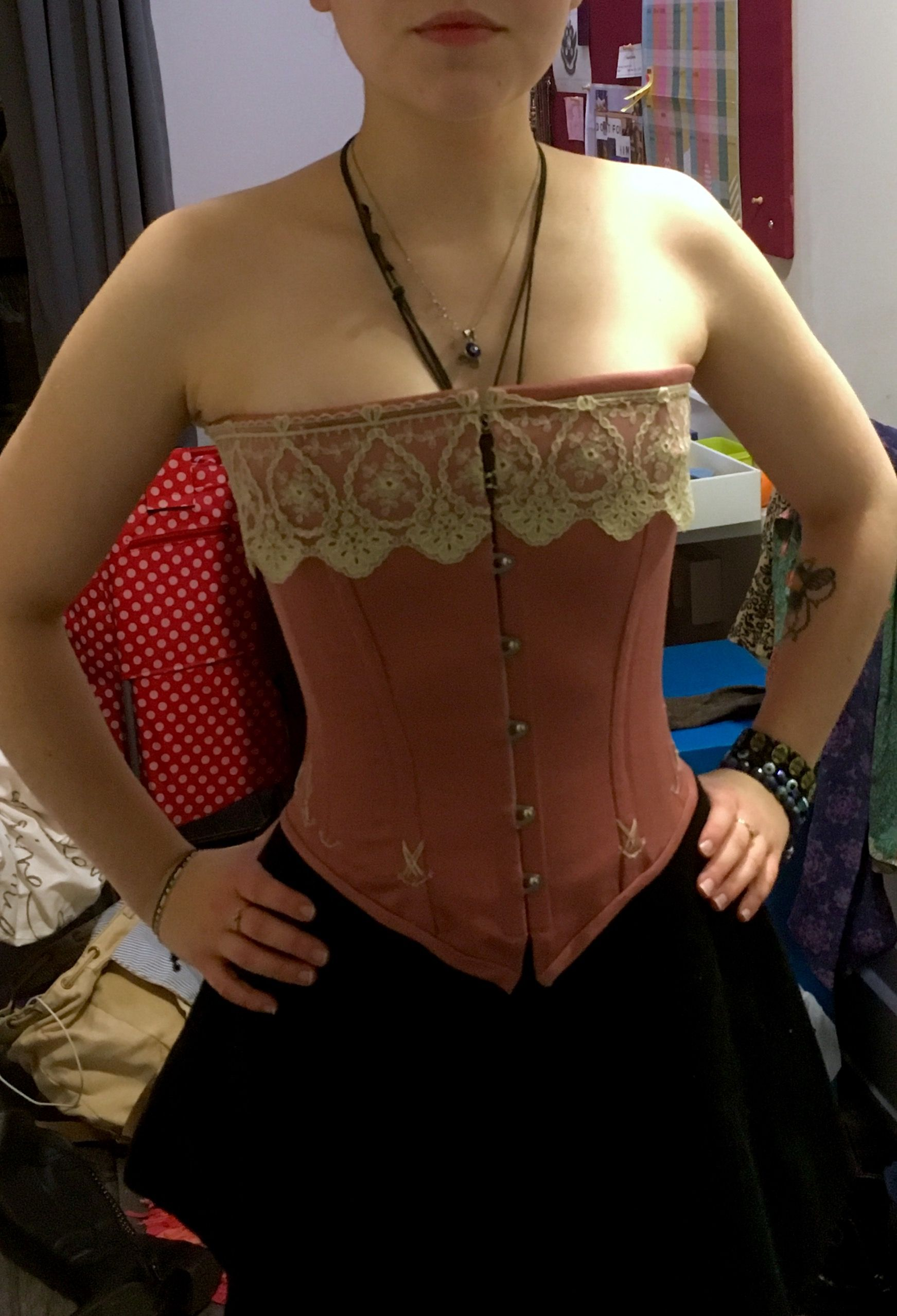 Finished corset, front view