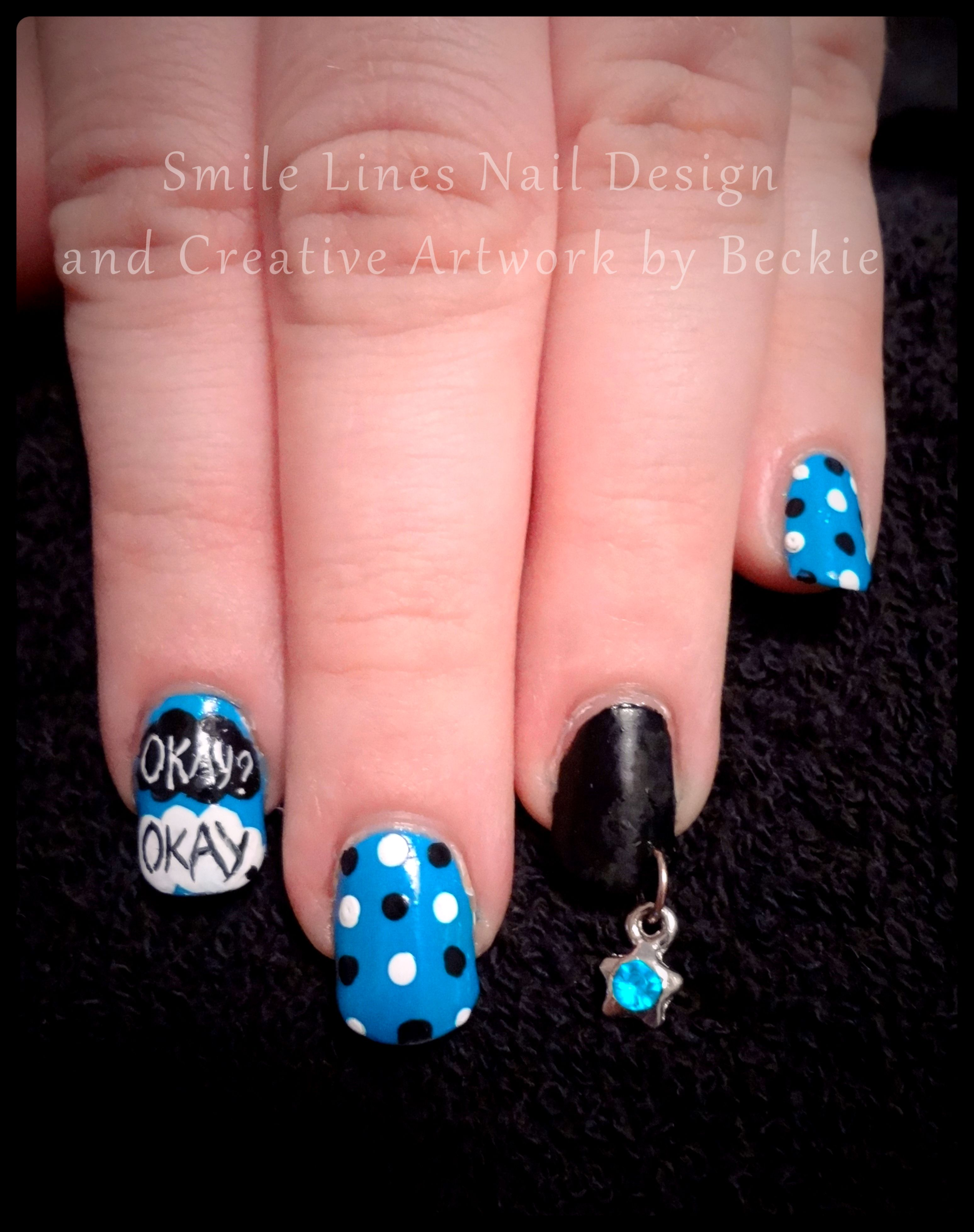 The Fault in Our Stars\' inspired nail art with cute star charm ...