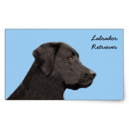 #Labrador Retriever (Black) Rectangular Sticker - #labrador #retriever #puppy #labradors #dog #dogs #pet #pets