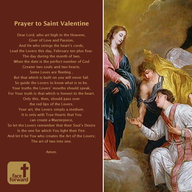 a prayer to saint valentine face forward columbus - Saint Valentine Prayer