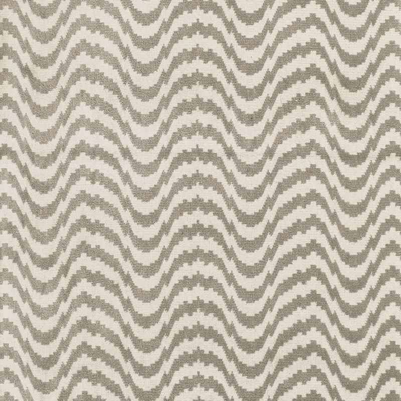 SCHUMACHER ZORIO VELVET FABRIC / DRIFTWOOD Fabric