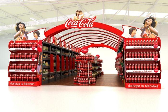 Retail Point of Purchase Design | POP Design | Alcohol & Soft Drinks POP | COCA COLA POP by Mauricio Gonzalez Abril at Coroflot.com