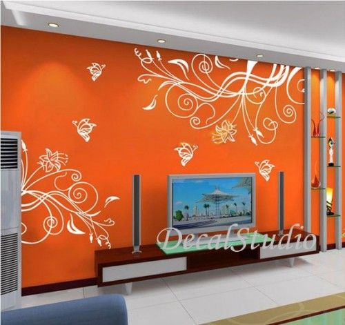 Butterfly Flower   Home Art Removeable Wall Decal Mural Vinyl Sticker Nice Design