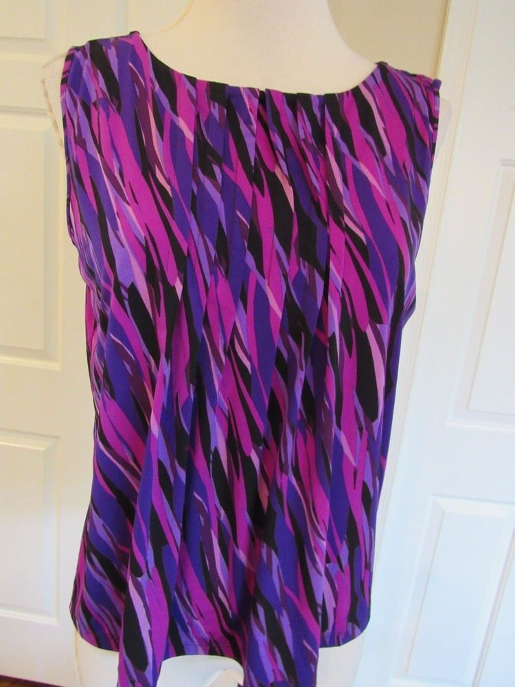 79f681780edea8 NWT Ellen Tracy Women s Black Purple Pink Stretch Sleeveless Knit Top Size  L  39  fashion  clothing  shoes  accessories  womensclothing  tops (ebay  link)