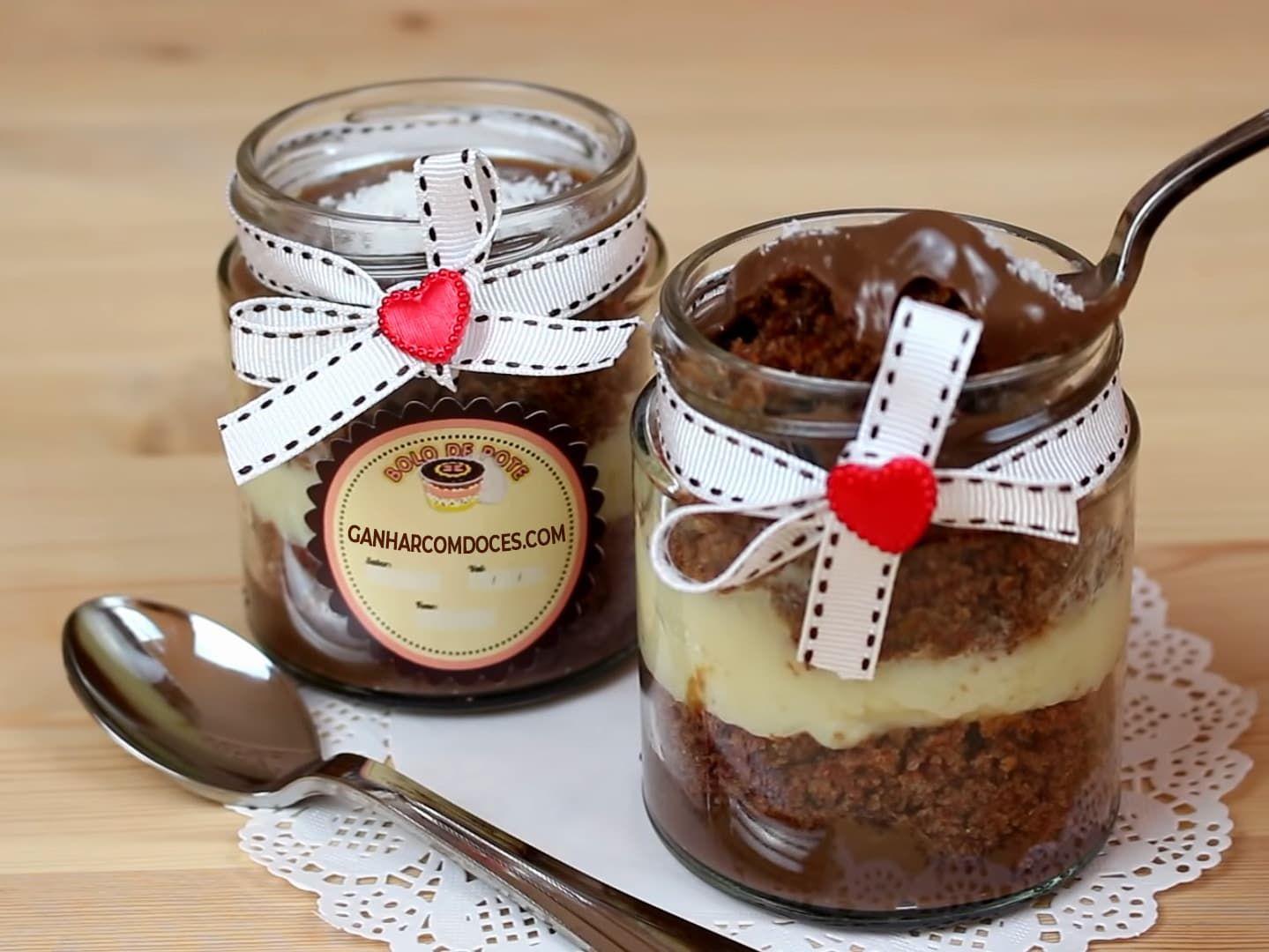 Receita De Bolo De Chocolate Com Leite Ninho No Pote Para Vender E