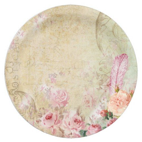 Vintage Roses Paper Plate | Party Paper Plates | Pinterest | Vintage