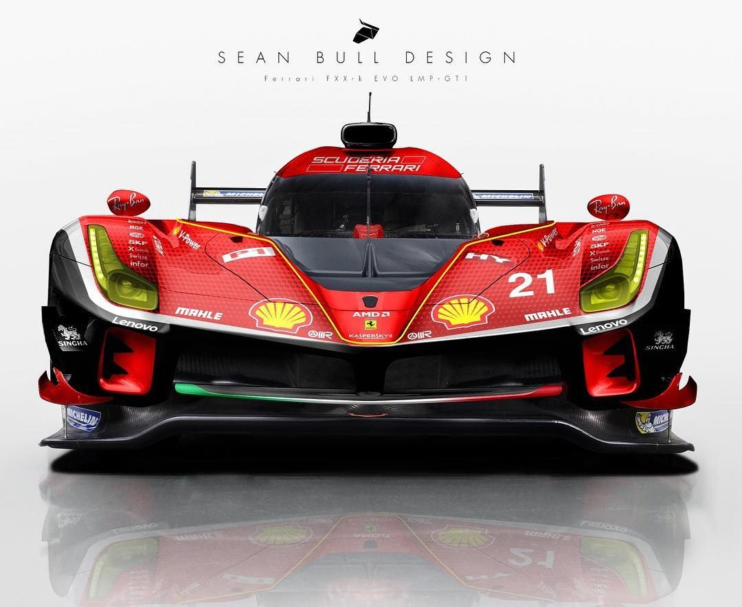 """Sean Bull Design on Instagram: """"Ferrari FXX-K Evo LMP-GT1 concept and livery. Should Ferrari be at lemans with their history there? Or focus on f1?…"""""""